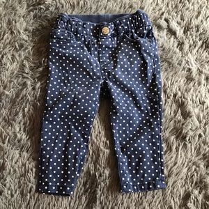 💥4/$20 H&M polka dot navy blue button up pants